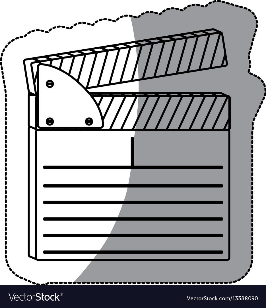 Contour clapper board icon