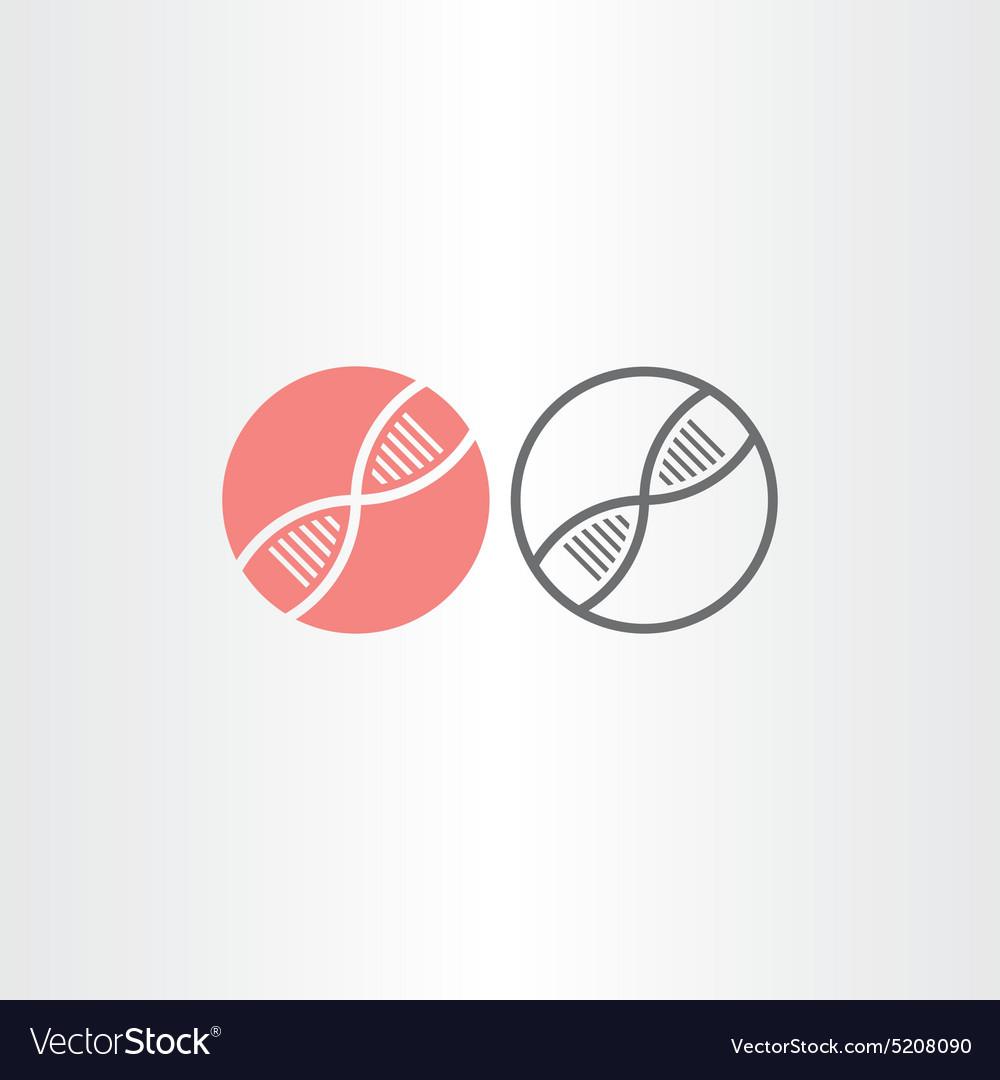 Dna circle icons design