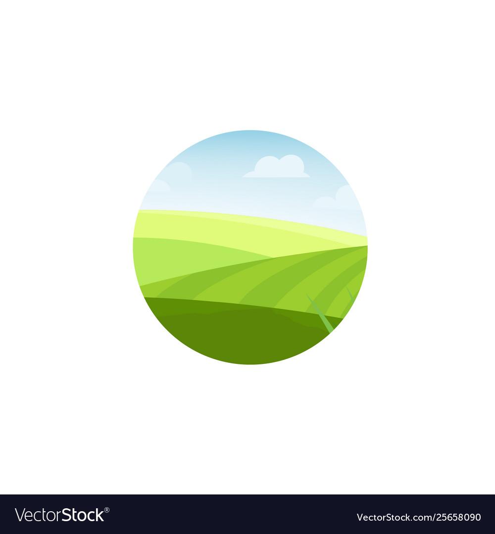 Farm field and pasture concept logo