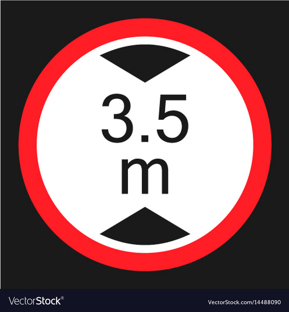 Limiting height prohibition sign flat icon