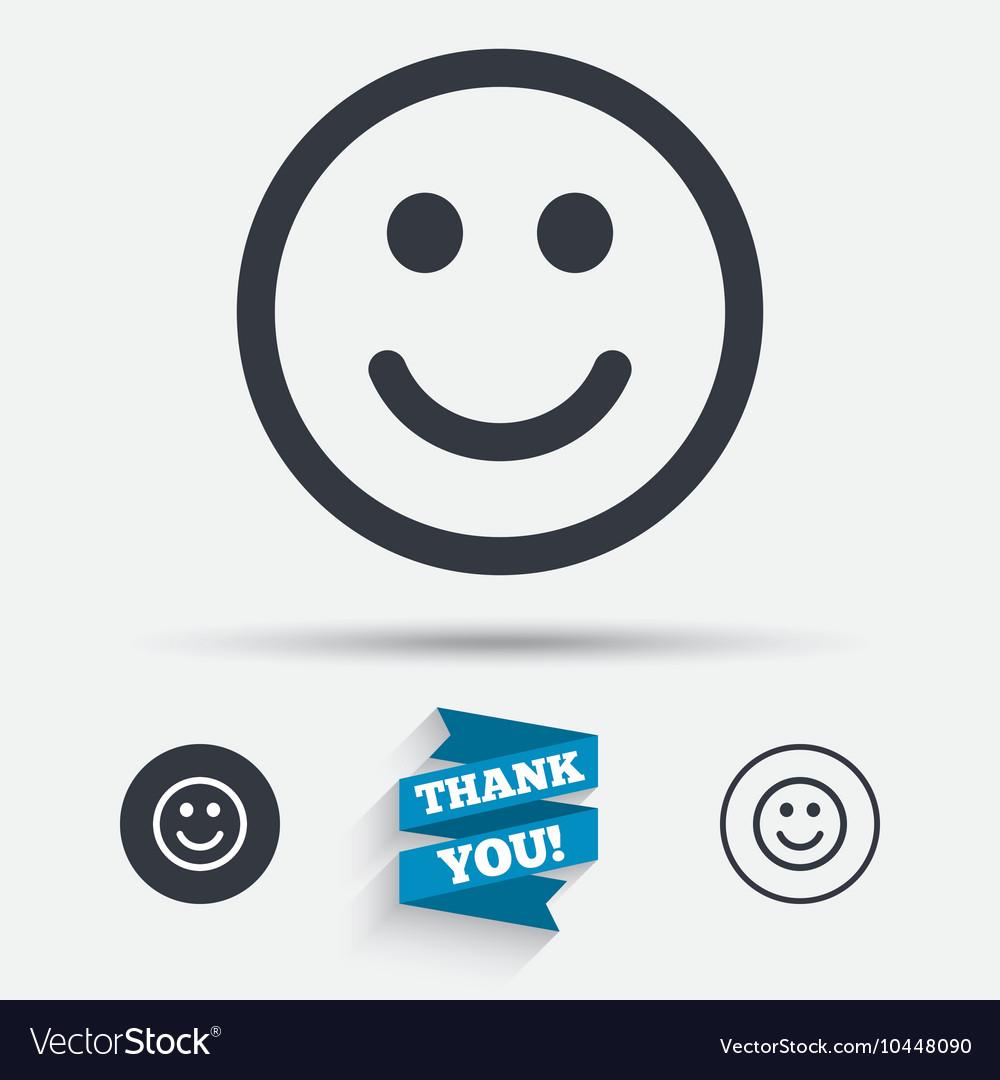 Smile Icon Happy Face Symbol Royalty Free Vector Image