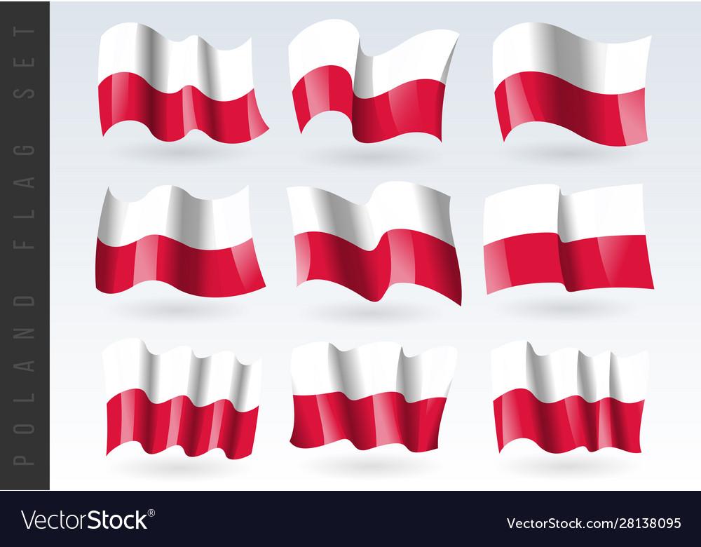 3d waving flag poland isolated on white
