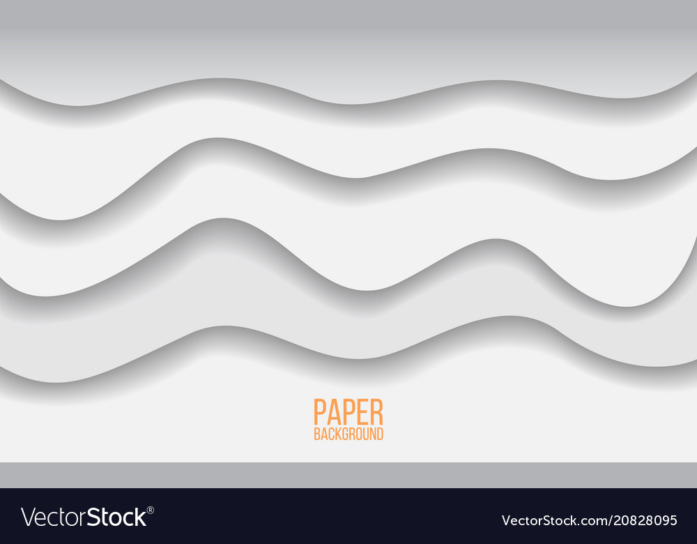 Abstract paper cut background gray and white