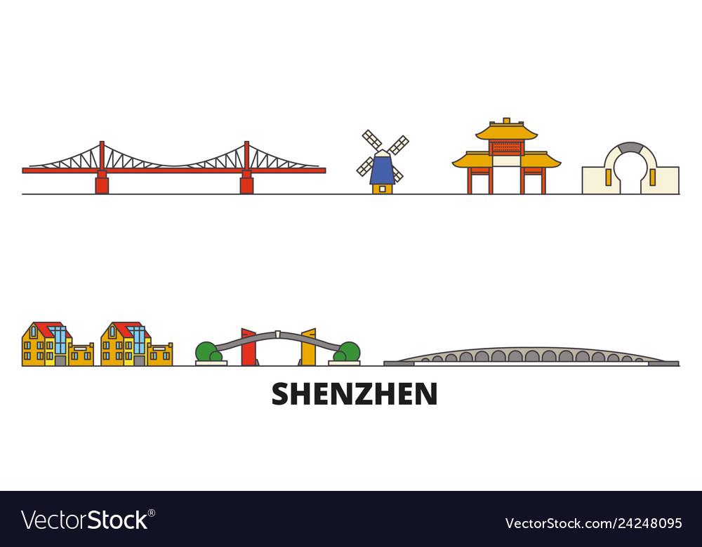 China shenzhen flat landmarks