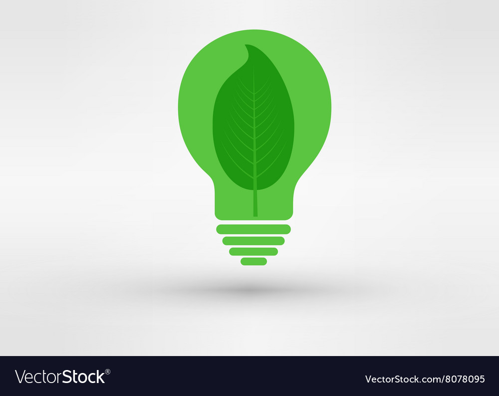 Green tree growing in a bulb go green concept