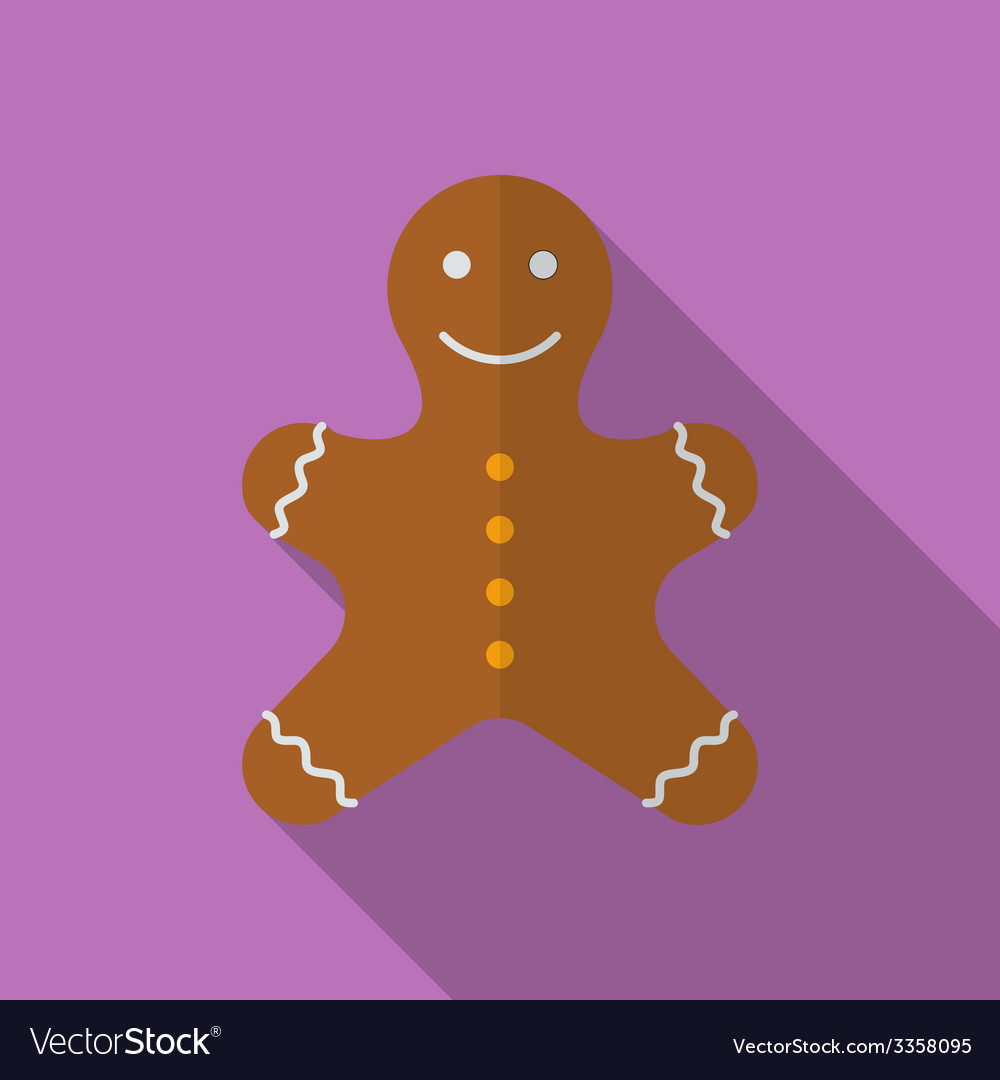 Icon of Christmas Gingerbread Flat style