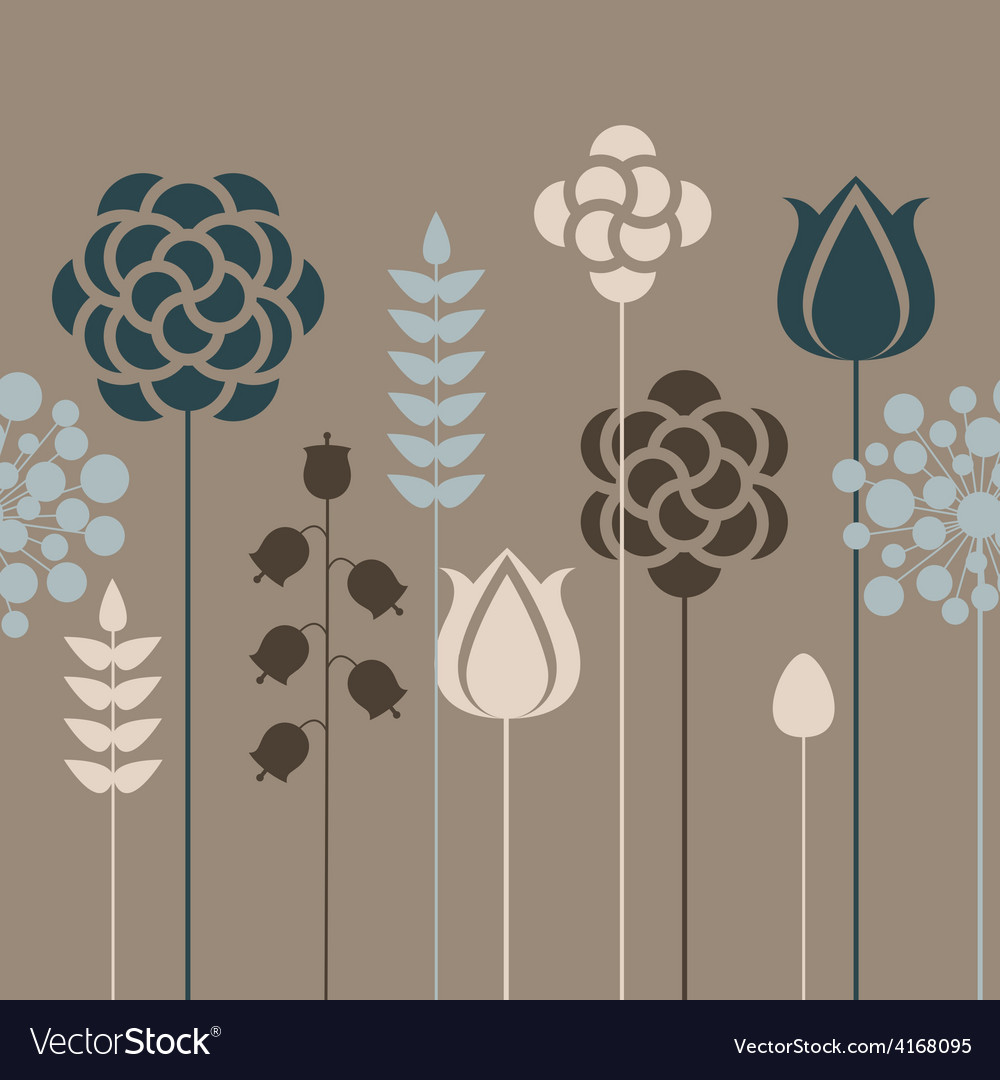 Seamless floral pattern in vintage colors vector image