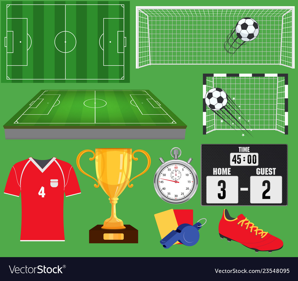 Soccer set football equipment collection