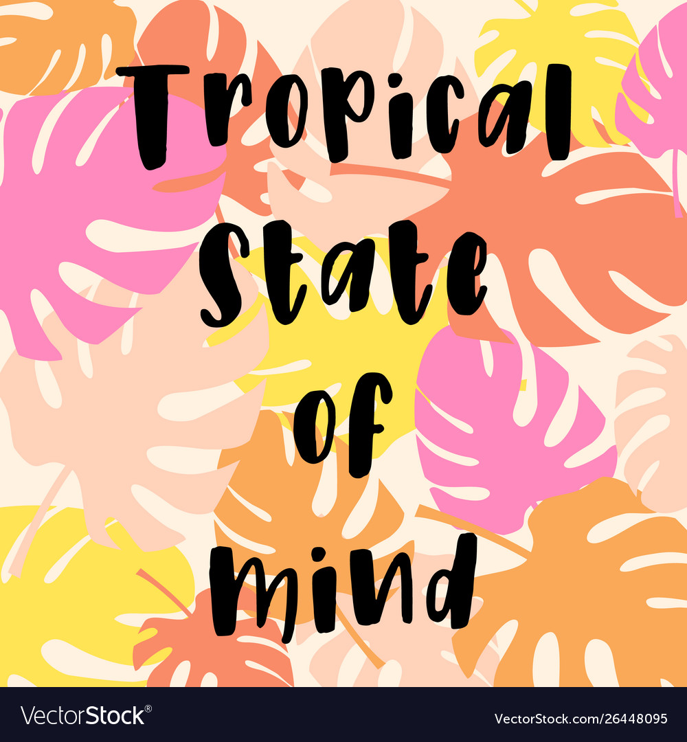 Tropical card for invitation greeting card