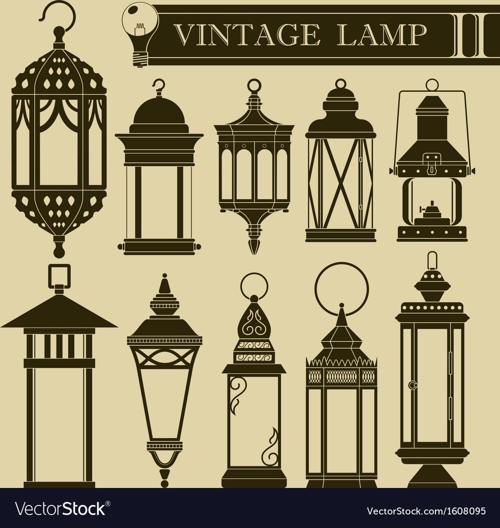 Vintage lamp II vector image