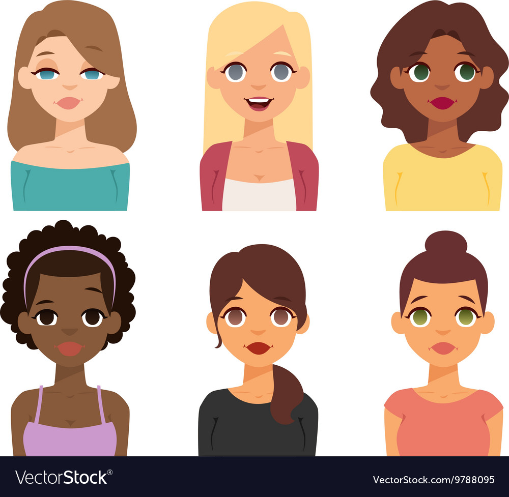 Woman nationality race vector image