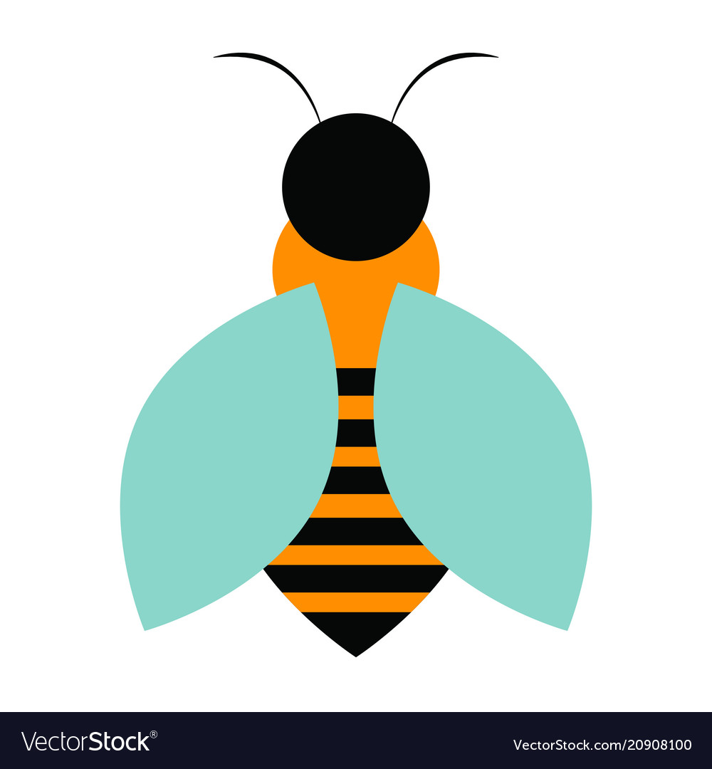 Abstract cute bee