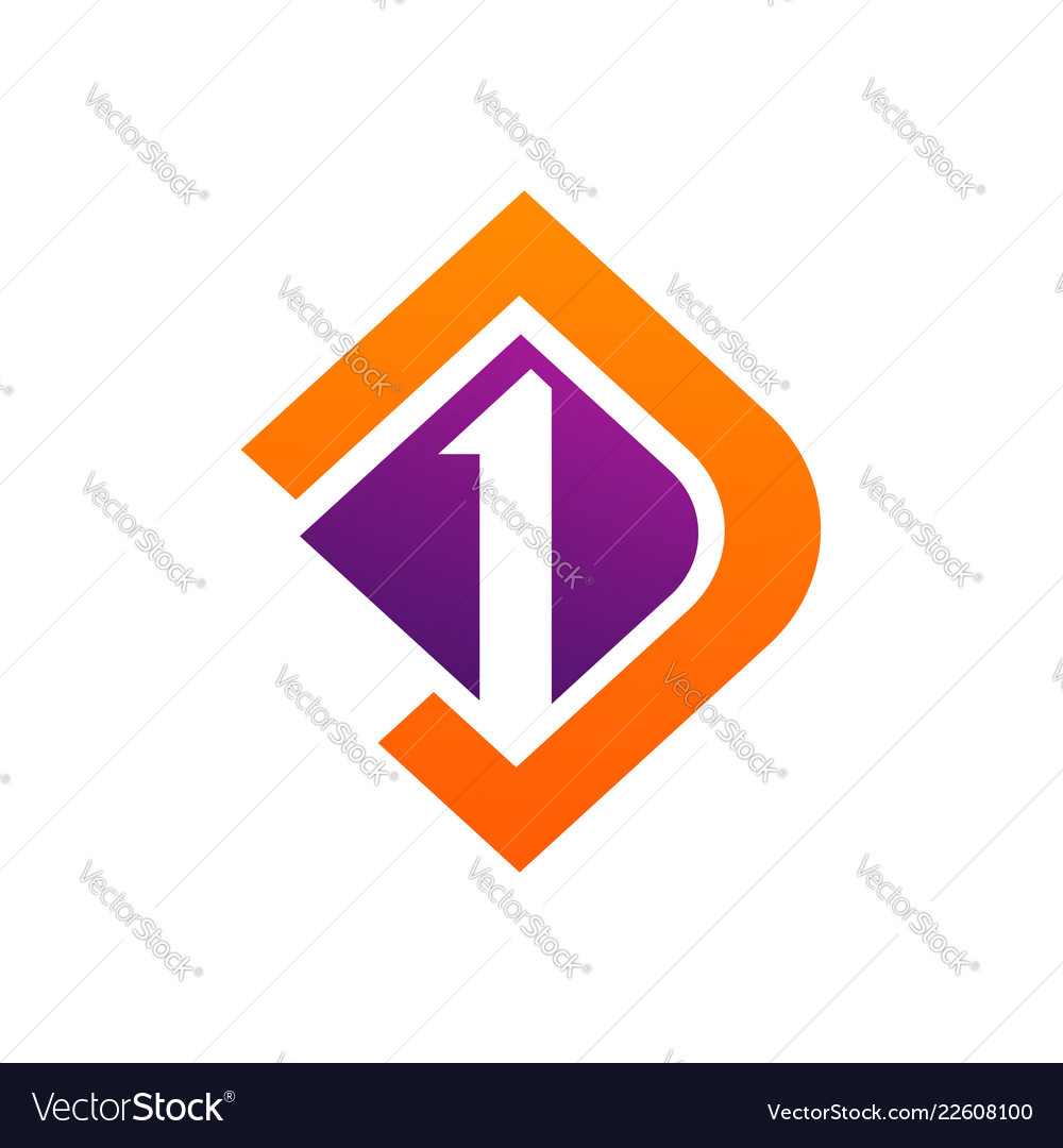 Aquare letter d and number one logo