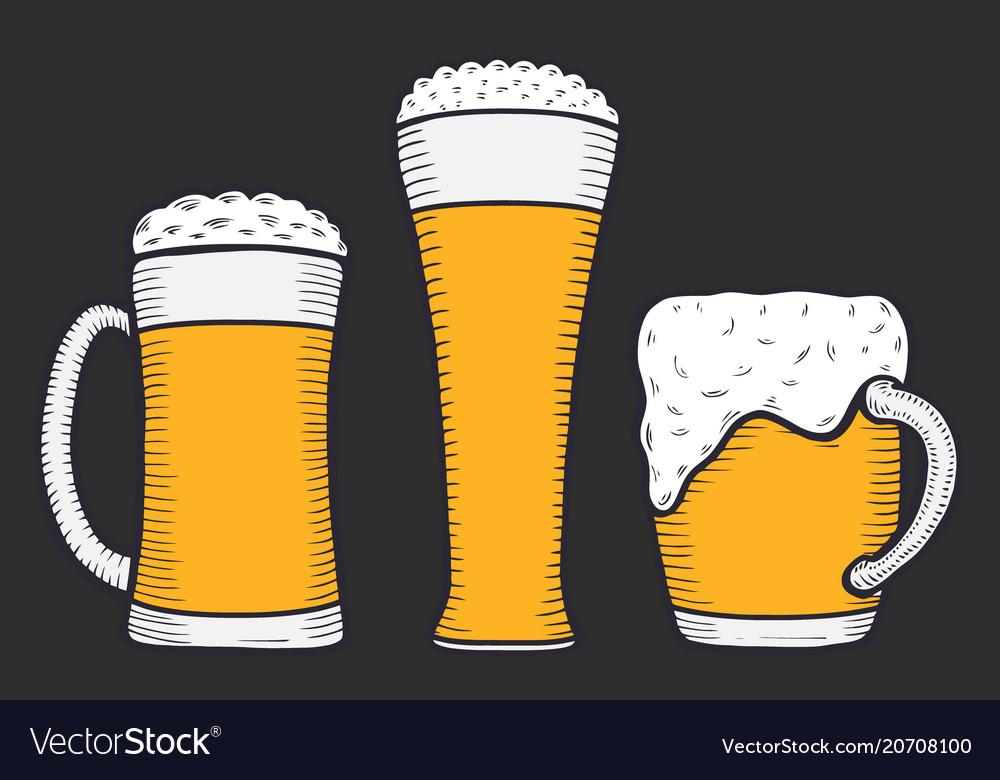 Beer glass mug or bottle