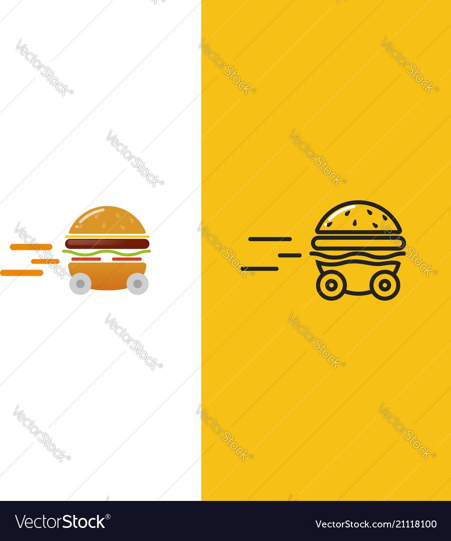 Burger delivery fast hamburger car
