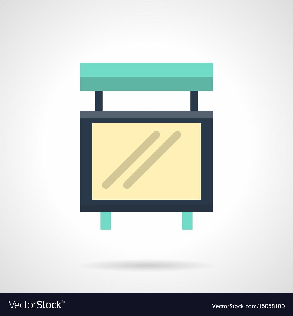 Empty light box flat color icon