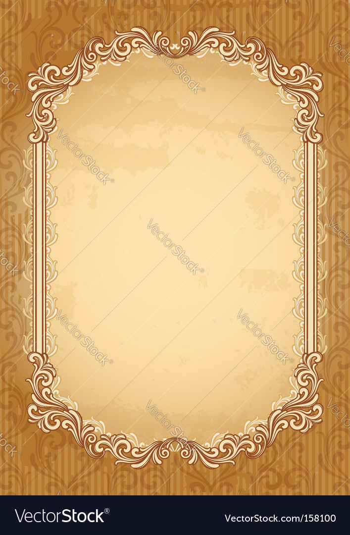 Old-fashioned background vector image