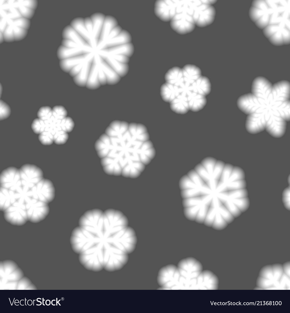 Seamless pattern of big blurry snowflakes vector image on VectorStock