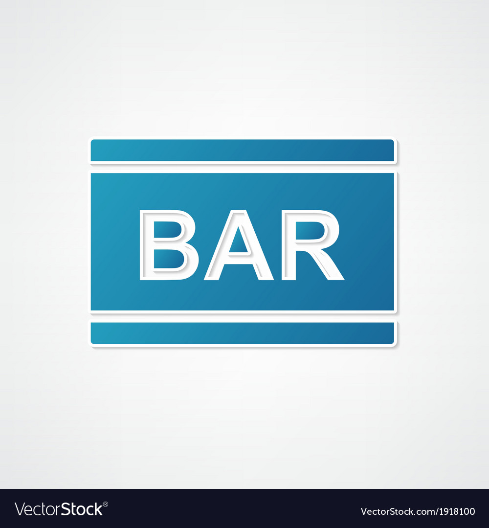 Sign bar blue vector image