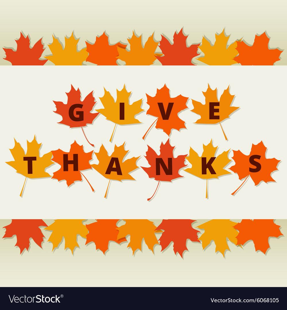 Autumn leaves border vector image