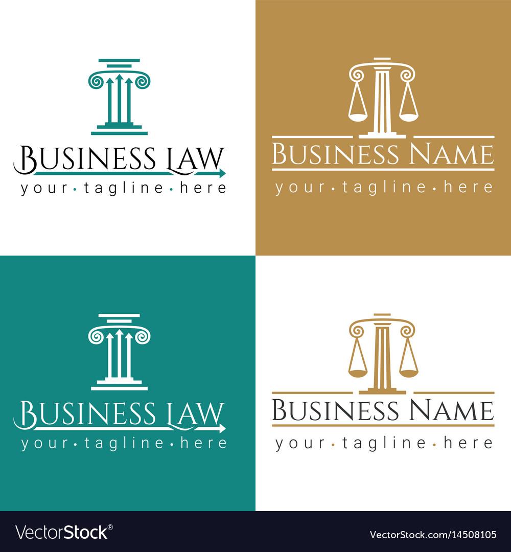Business law logo column