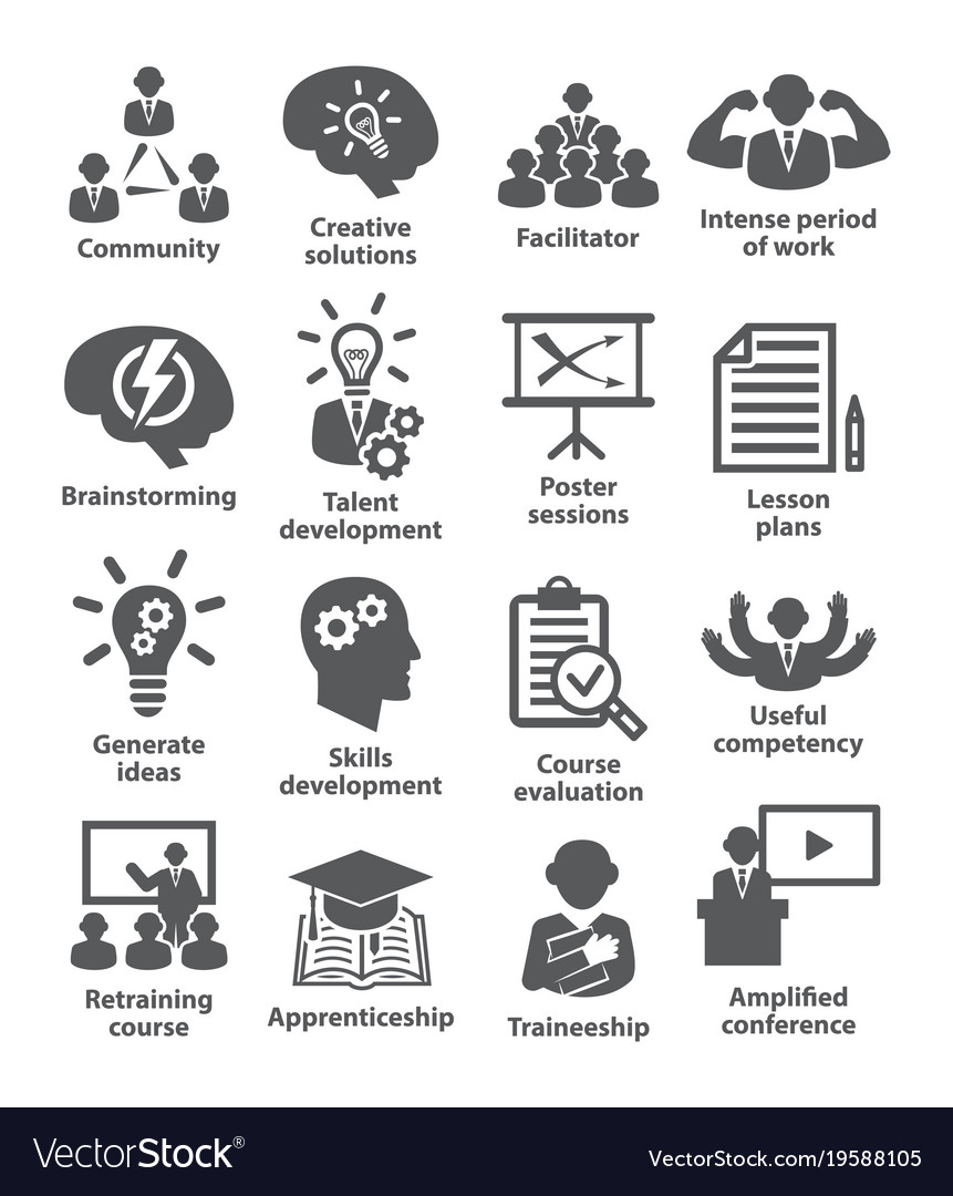 Business management icons pack 31