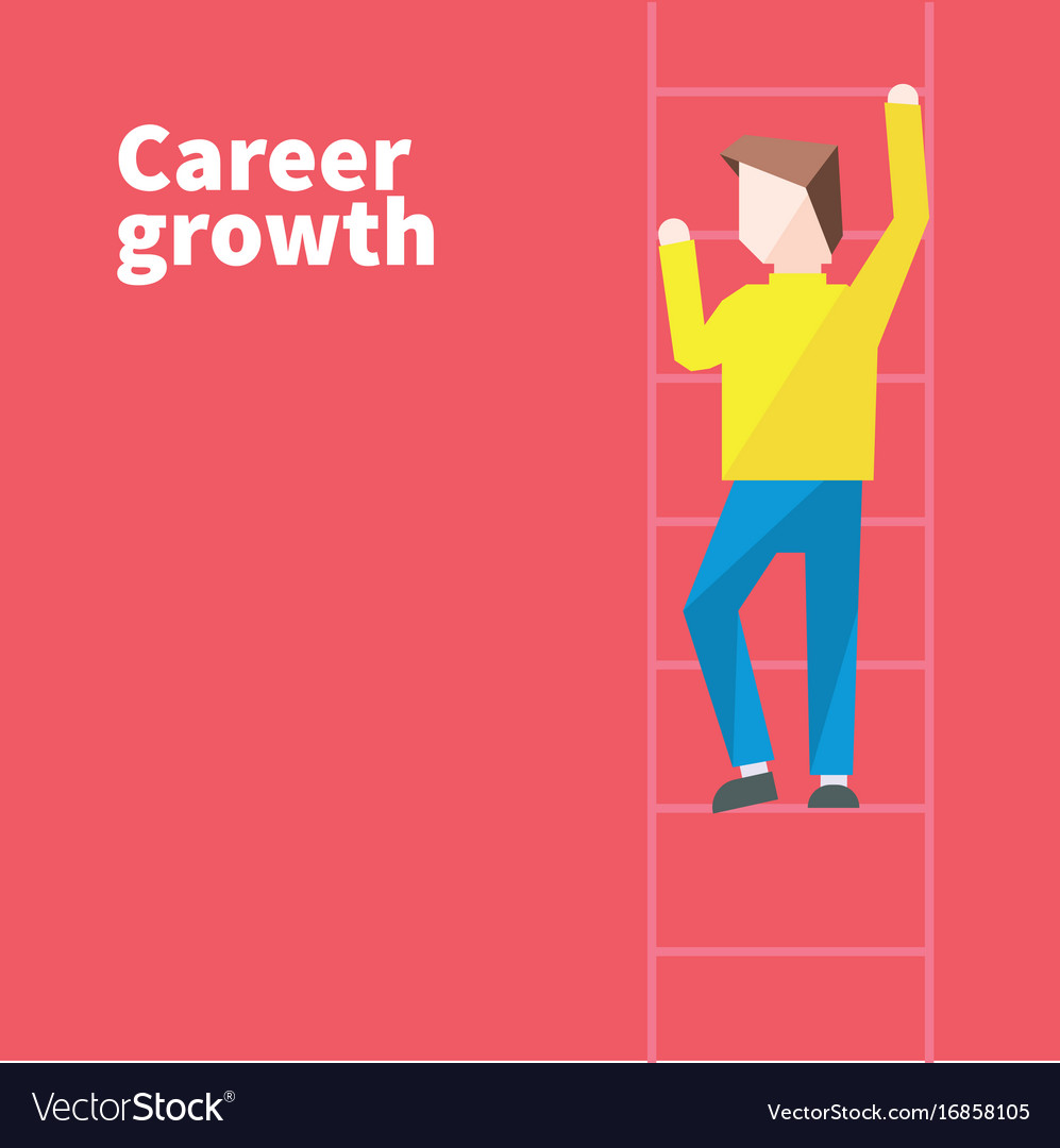 Career growth vector image
