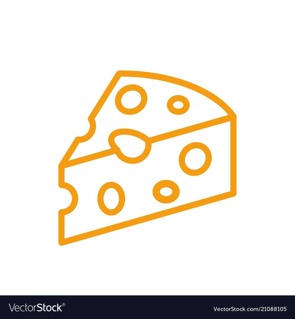 Cheese color icon line milk product symbol