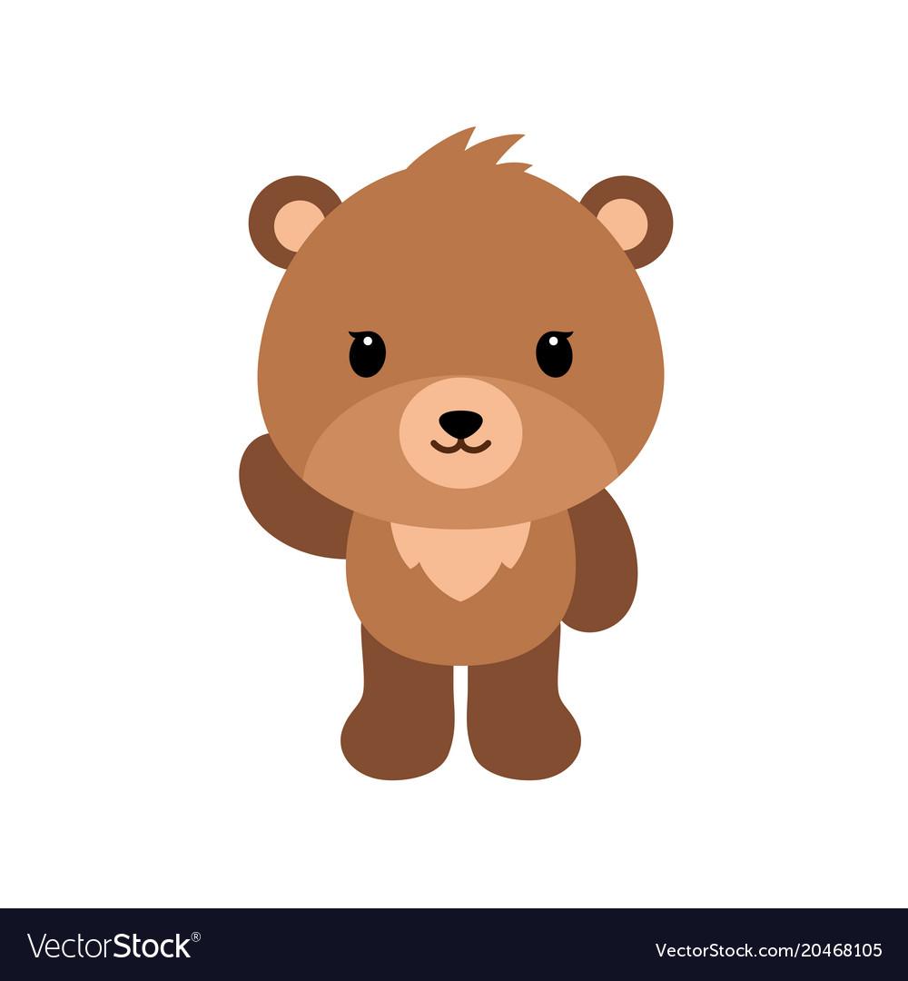 Cute cartoon bear backgrounds flat design