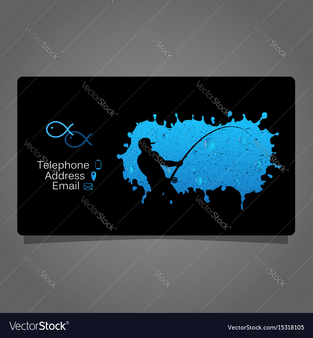Fisherman visiting card concept