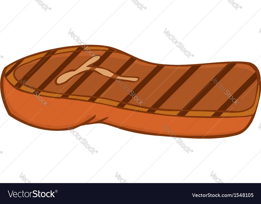Juicy Steak Cartoon Vector Image
