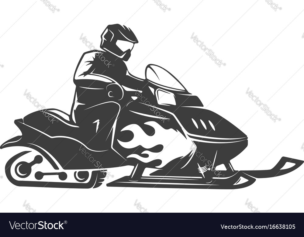 Snowmobile icon isolated on white background