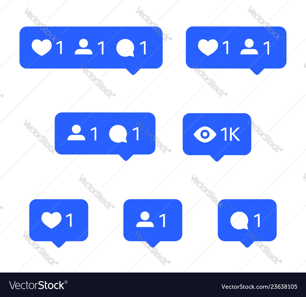 Social network icons tooltips speech bubbles