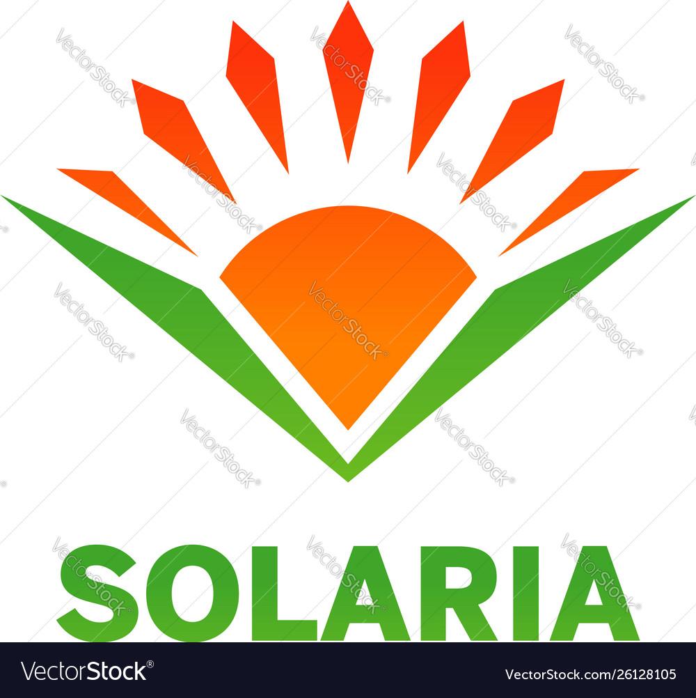 Solaria logo design symbol icon