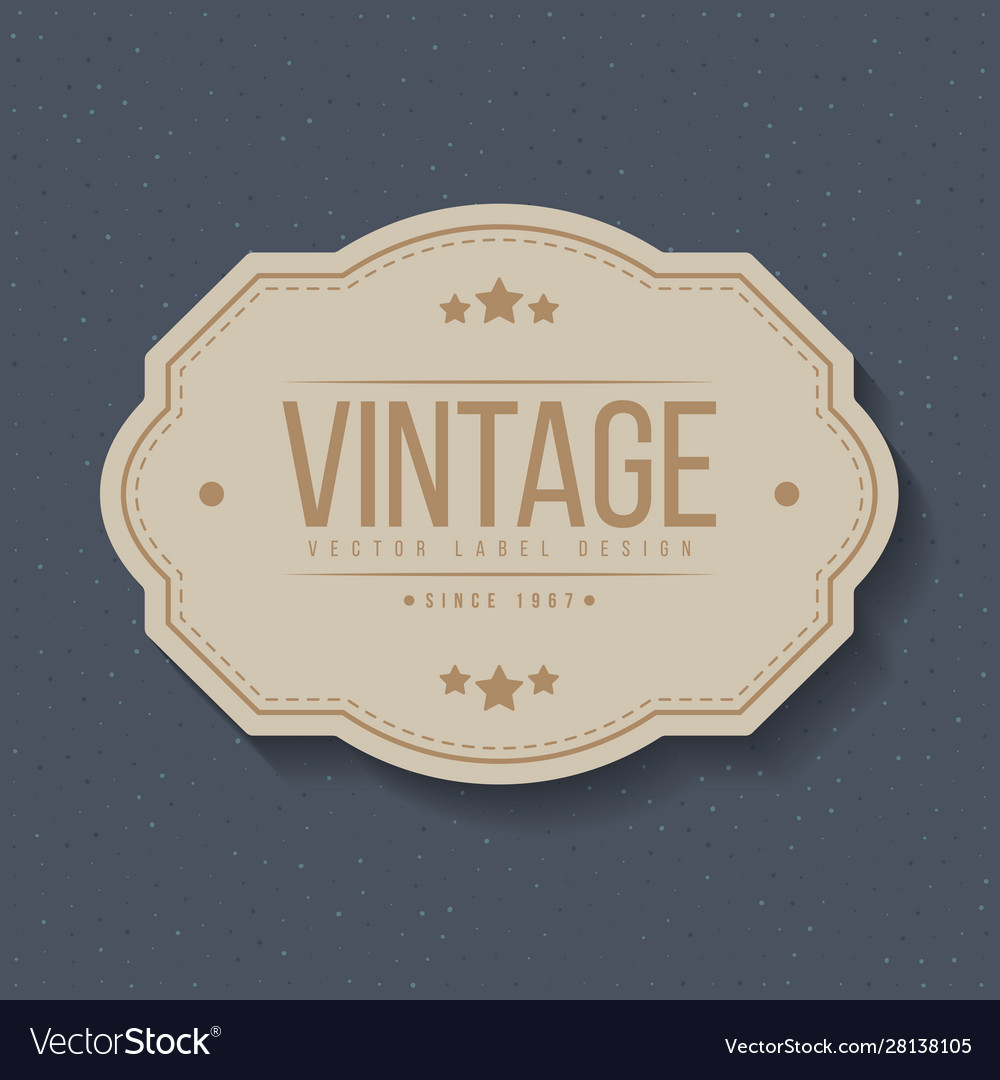 Vintage labels and frame design elements