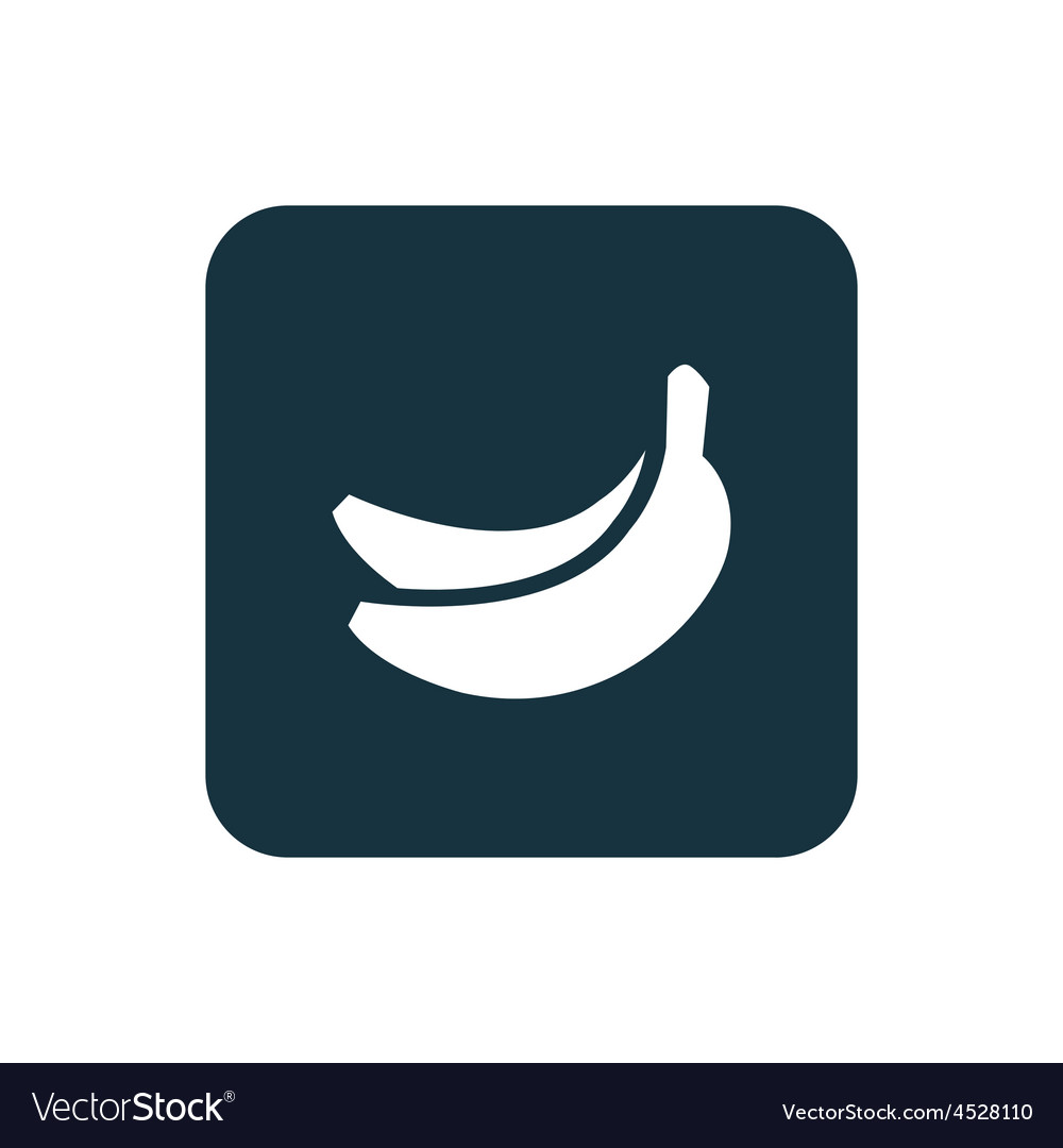 Banana icon Rounded squares button