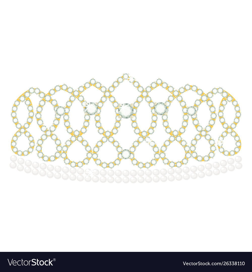 Diadem icon jewelled crown and classic headband