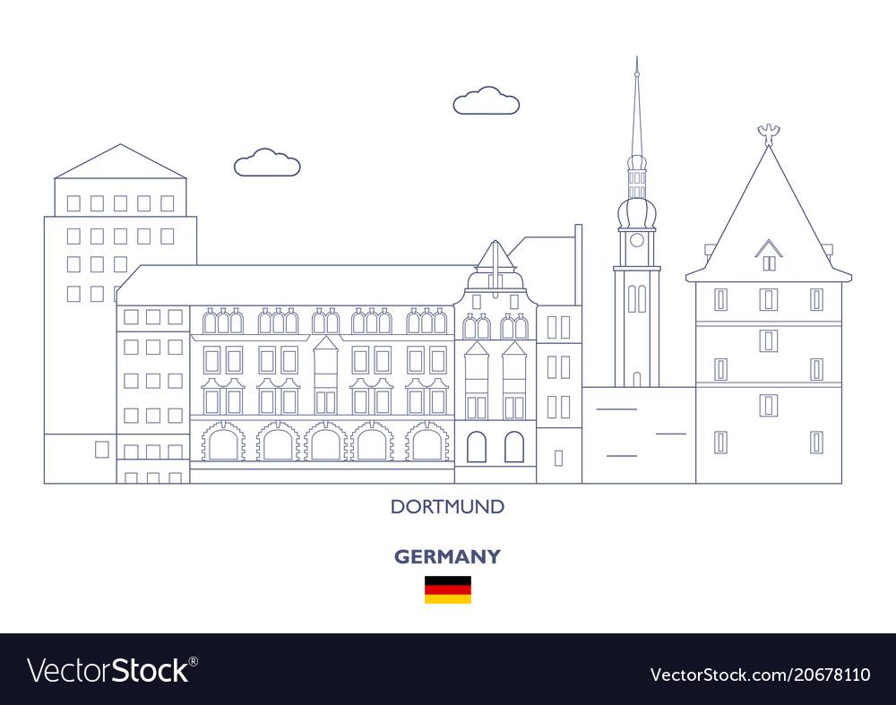 Dortmund city skyline