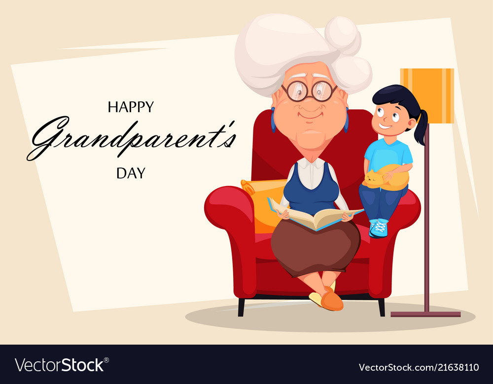 Happy grandparents day greeting card royalty free vector happy grandparents day greeting card vector image m4hsunfo