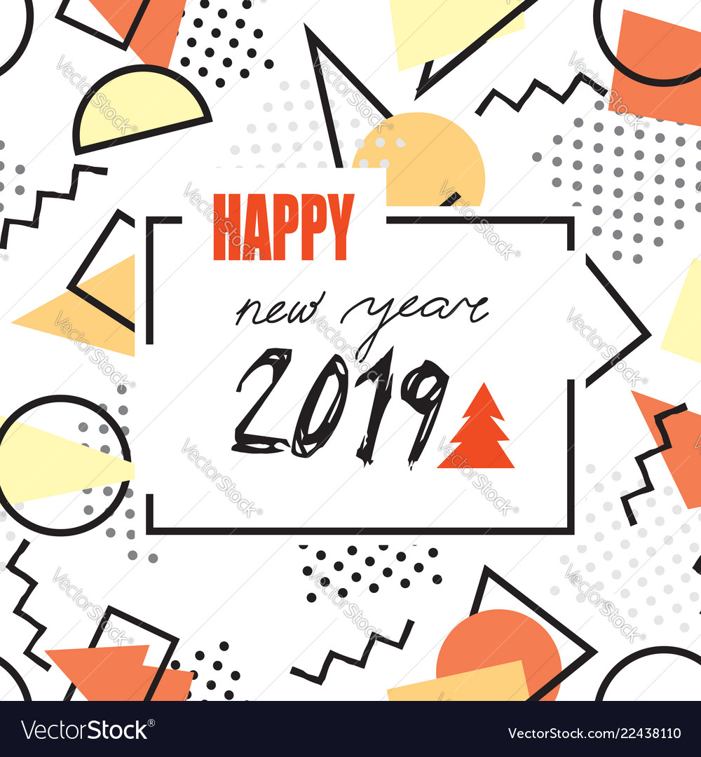 Happy new year 2019 banner abstract winter