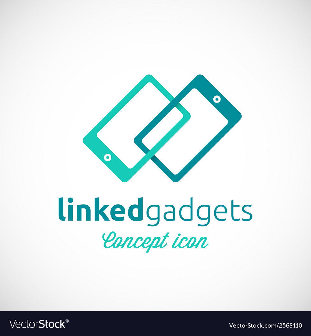 Linked Gadgets Abstract Concept Icon
