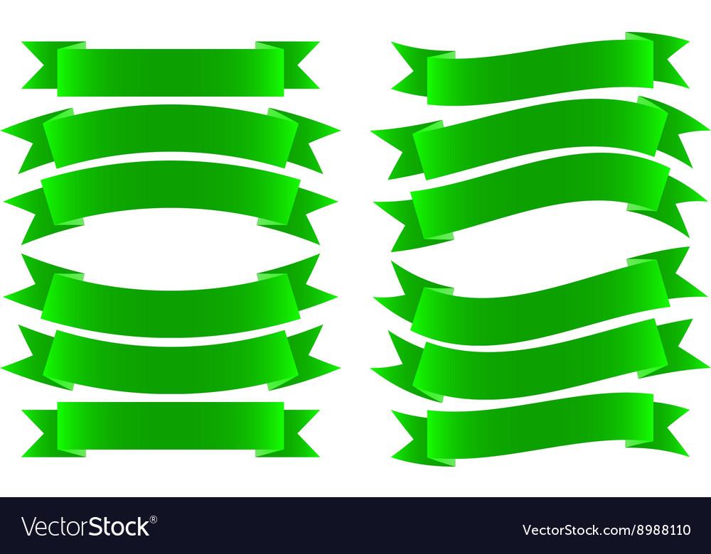 Ribbon banner green