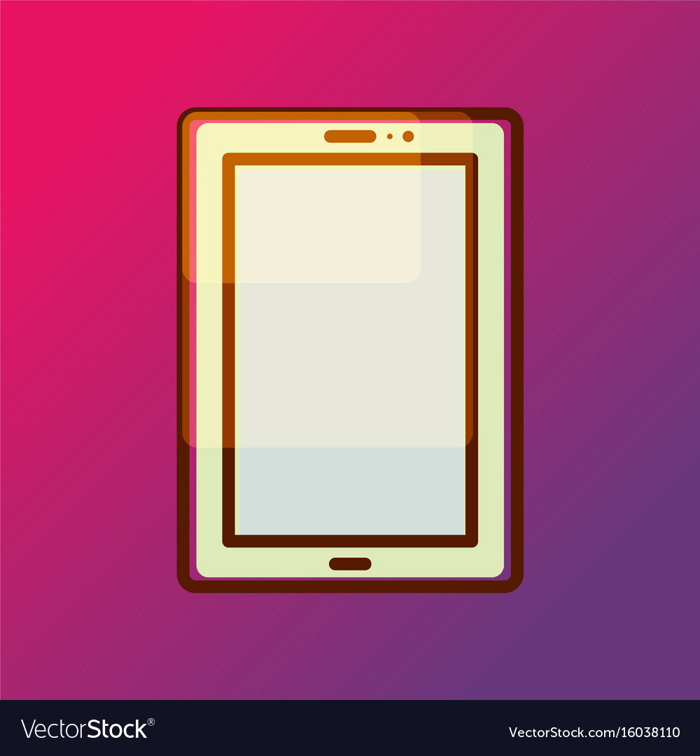 Tablet pad icon on gradient backdrop
