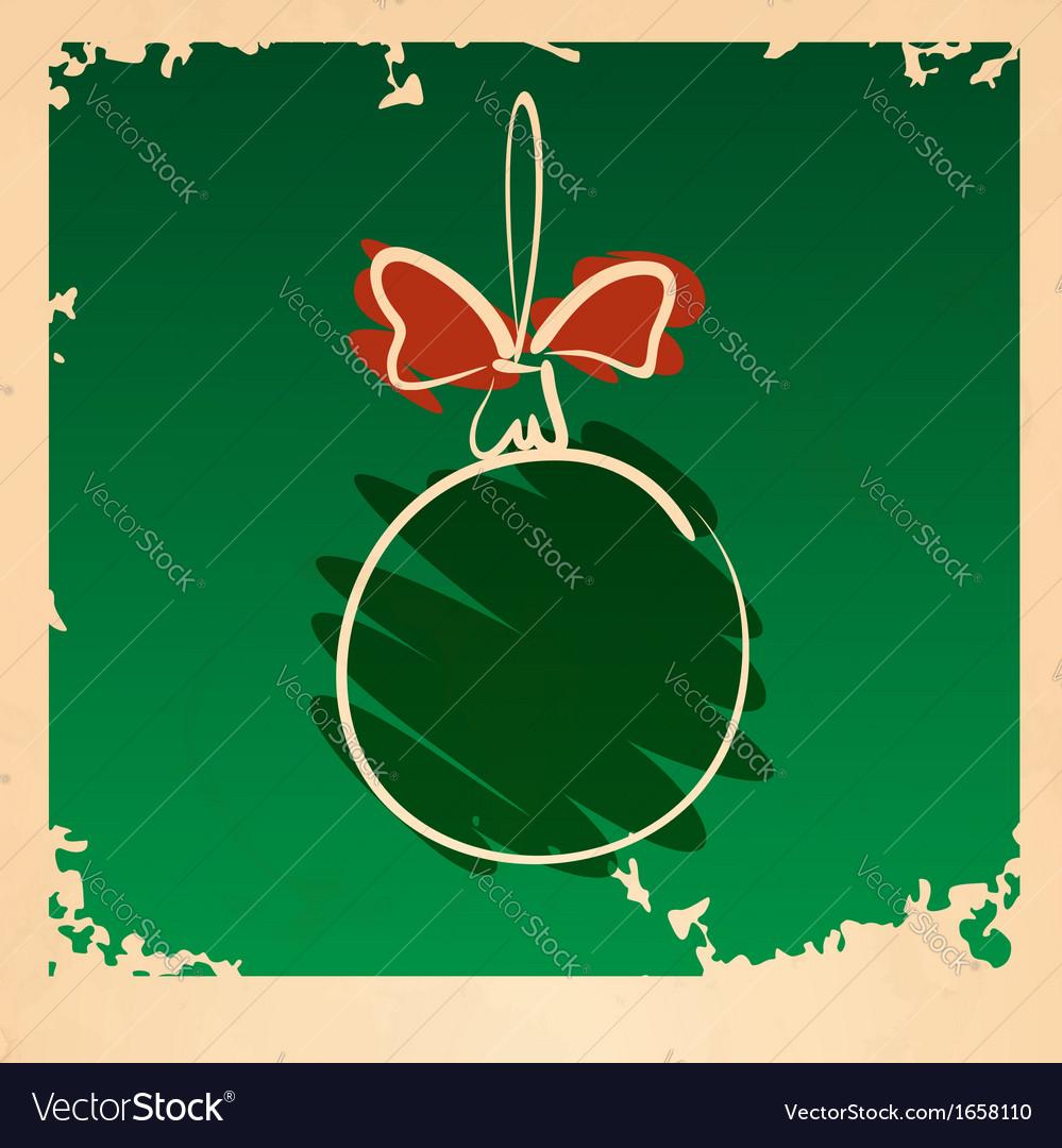 Vintage Christmas Ball vector image