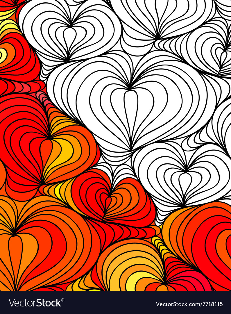 Abstract seamless fantasy pattern hand