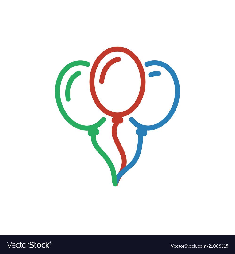 Balloon color icon line ballon decoration