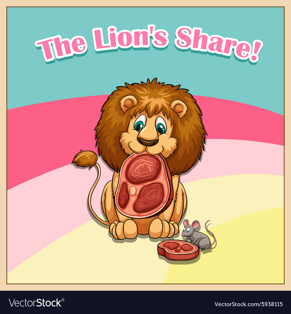 Idiom the lion share vector image