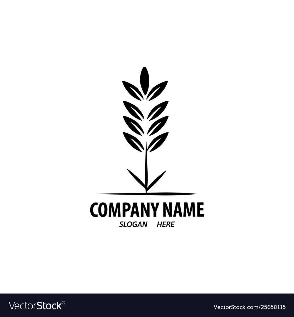 Logo design for agriculture agronomy wheat farm