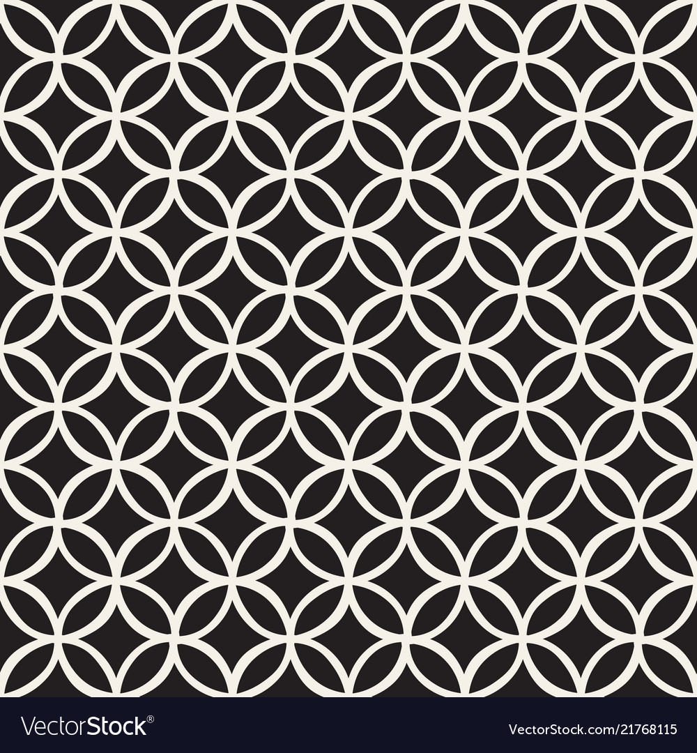 Monochrome minimalistic seamless pattern with