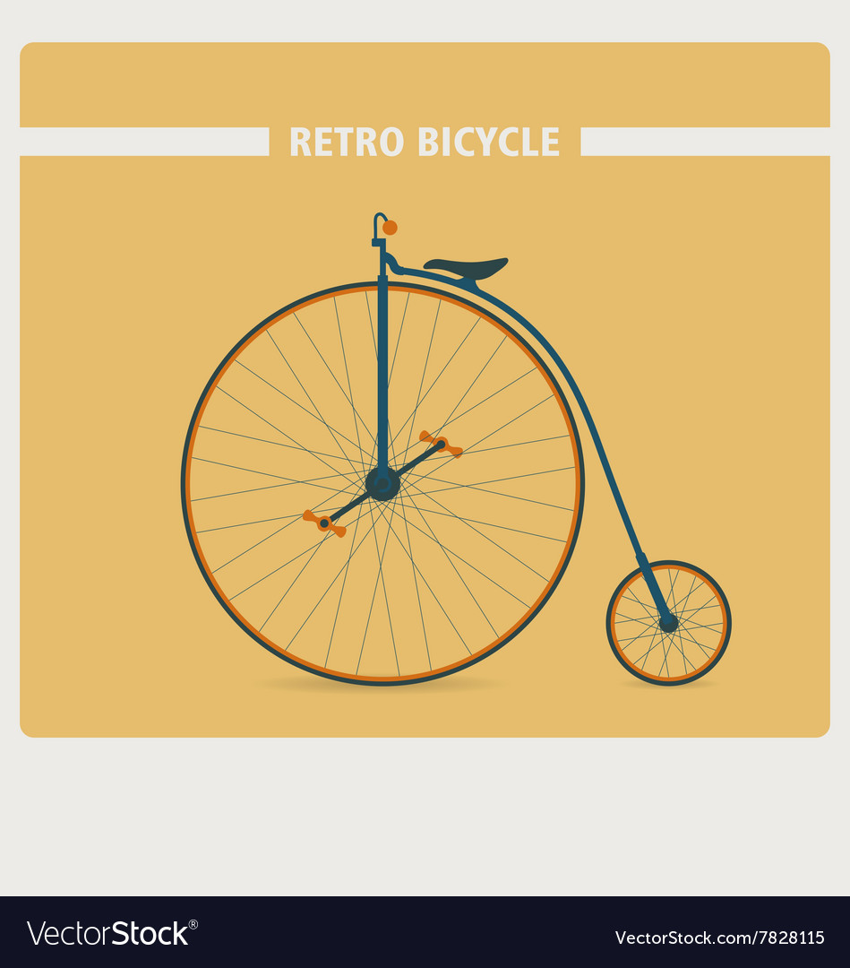 Retro style of old vintage bicycle